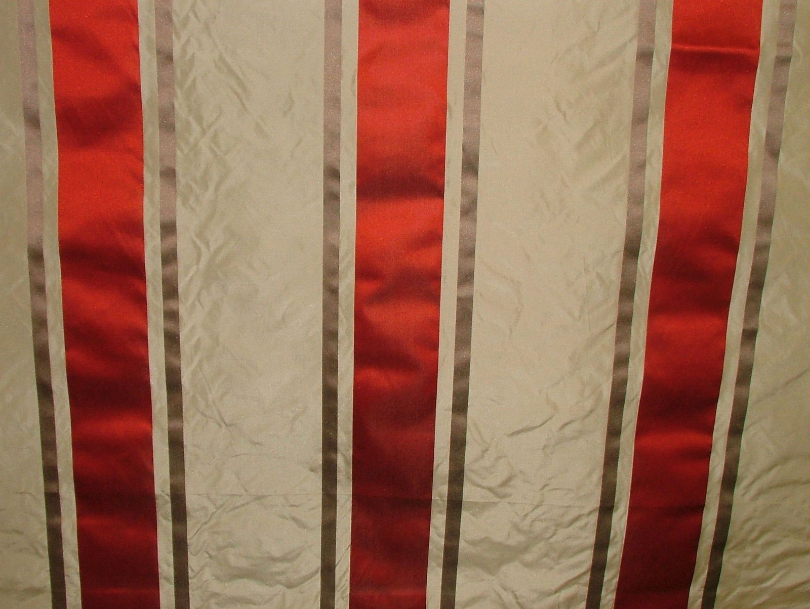 Tatiana Stripe Cherry 100 Silk Fabric